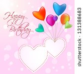happy birthday two  hearts with ...   Shutterstock .eps vector #131388683