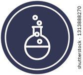 science experiment circular...   Shutterstock .eps vector #1313888270