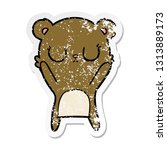 distressed sticker of a... | Shutterstock .eps vector #1313889173