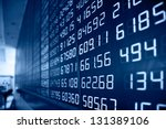 Small photo of Display of Stock market quotes in China.