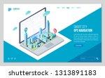 design website or landing page... | Shutterstock .eps vector #1313891183