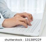close up of human hands working ... | Shutterstock . vector #131389229