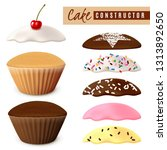 designer options for muffins in ... | Shutterstock .eps vector #1313892650