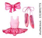 set of ballet attributes.... | Shutterstock . vector #1313892773