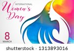 happy women day holiday...   Shutterstock .eps vector #1313893016
