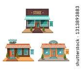vector store. facades of... | Shutterstock .eps vector #1313893883