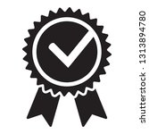 quality check ribbon icon.... | Shutterstock .eps vector #1313894780