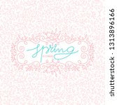 spring label background with... | Shutterstock .eps vector #1313896166