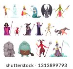evil fairy tails characters set ... | Shutterstock .eps vector #1313899793