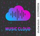 cloud music library  audio and... | Shutterstock .eps vector #1313900036