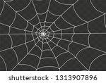 cobweb isolated on white ... | Shutterstock .eps vector #1313907896
