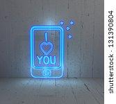 3d Graphic Illuminated I Love...
