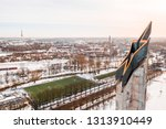 riga  latvia  february 14  2018 ... | Shutterstock . vector #1313910449