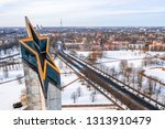riga  latvia  february 14  2018 ... | Shutterstock . vector #1313910479