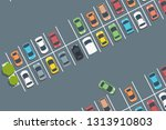 mall car park. vector parked... | Shutterstock .eps vector #1313910803