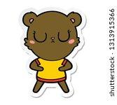 sticker of a peaceful cartoon... | Shutterstock .eps vector #1313915366
