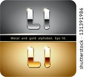 3d joyful set of chrome metal...   Shutterstock .eps vector #131391986