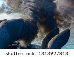 close up view of black exhaust... | Shutterstock . vector #1313927813