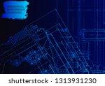vector engineering illustration.... | Shutterstock .eps vector #1313931230