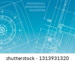 blueprint  sketch. vector... | Shutterstock .eps vector #1313931320