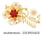 decorative decoration  paisley...   Shutterstock . vector #1313931623