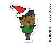 hand drawn sticker cartoon of a ... | Shutterstock .eps vector #1313933033