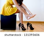 woman with foot pain | Shutterstock . vector #131393606