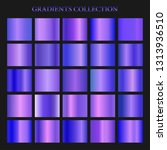 violet gradient collection for... | Shutterstock . vector #1313936510