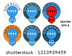 set of buttons download free... | Shutterstock .eps vector #1313939459