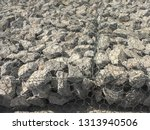 gabion  cages filled with rocks ... | Shutterstock . vector #1313940506