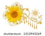 decorative decoration  paisley...   Shutterstock . vector #1313943269