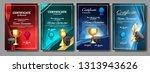 ice hockey game certificate... | Shutterstock .eps vector #1313943626