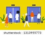 people. elevator. business...   Shutterstock .eps vector #1313955773