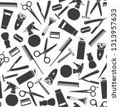 vector pattern of barber shop... | Shutterstock .eps vector #1313957633