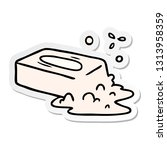 hand drawn sticker cartoon...   Shutterstock .eps vector #1313958359