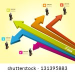 vector arrow with business man... | Shutterstock .eps vector #131395883