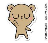 sticker of a peaceful cartoon... | Shutterstock .eps vector #1313959526