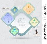 vector rectangles for business... | Shutterstock .eps vector #131396048