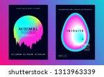 music flyer set. fluid... | Shutterstock .eps vector #1313963339