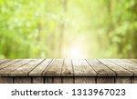 empty wooden table background | Shutterstock . vector #1313967023