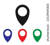 location icon vector | Shutterstock .eps vector #1313969303