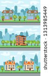 set of three illustrations of... | Shutterstock . vector #1313985449