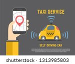autonomous self driving... | Shutterstock .eps vector #1313985803