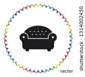 sofa icon  web design element | Shutterstock .eps vector #1314002450