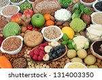 healthy food for vegans with...   Shutterstock . vector #1314003350