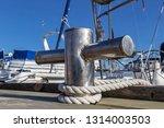 stainless steel bollard on the... | Shutterstock . vector #1314003503