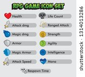 rpg game icon set  various...