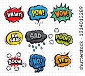 comic book sound effect bubble...   Shutterstock .eps vector #1314013289