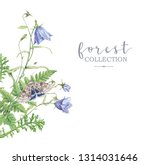 watercolor highly detailed... | Shutterstock . vector #1314031646