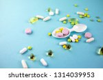 a lot of multi colored tablets... | Shutterstock . vector #1314039953